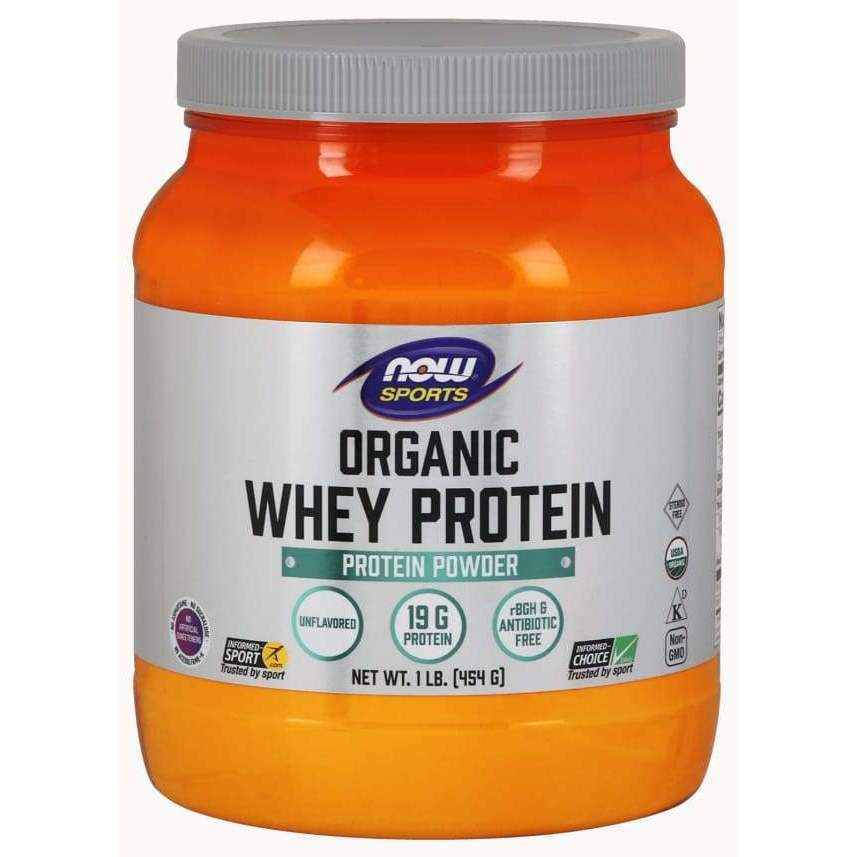 Whey Protein Organic 1 lb - Now Foods - Earthly Nutrition