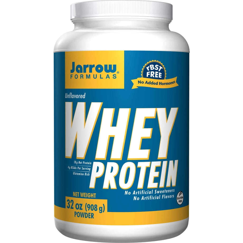 Whey Protein Unflavored 32 oz - Jarrow - Earthly Nutrition