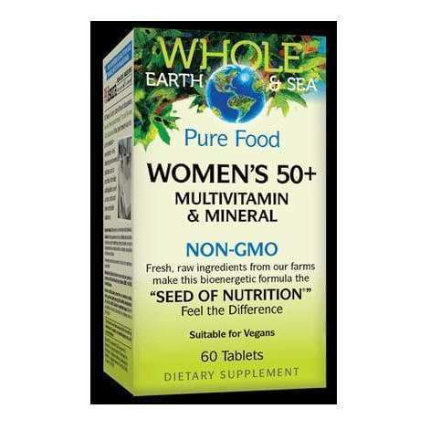 Whole Earth & Sea Women's 50+ Multivitamin & Mineral 60 Tablets – Natural Factors - Earthly Nutrition
