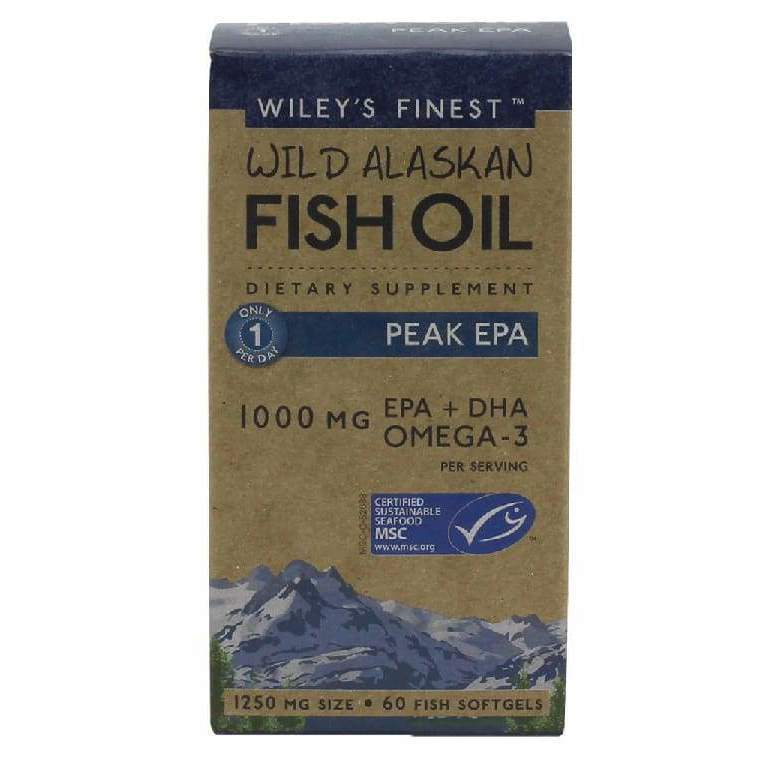 Wild Alaskan Peak EPA 60 softgels - Earthly Nutrition