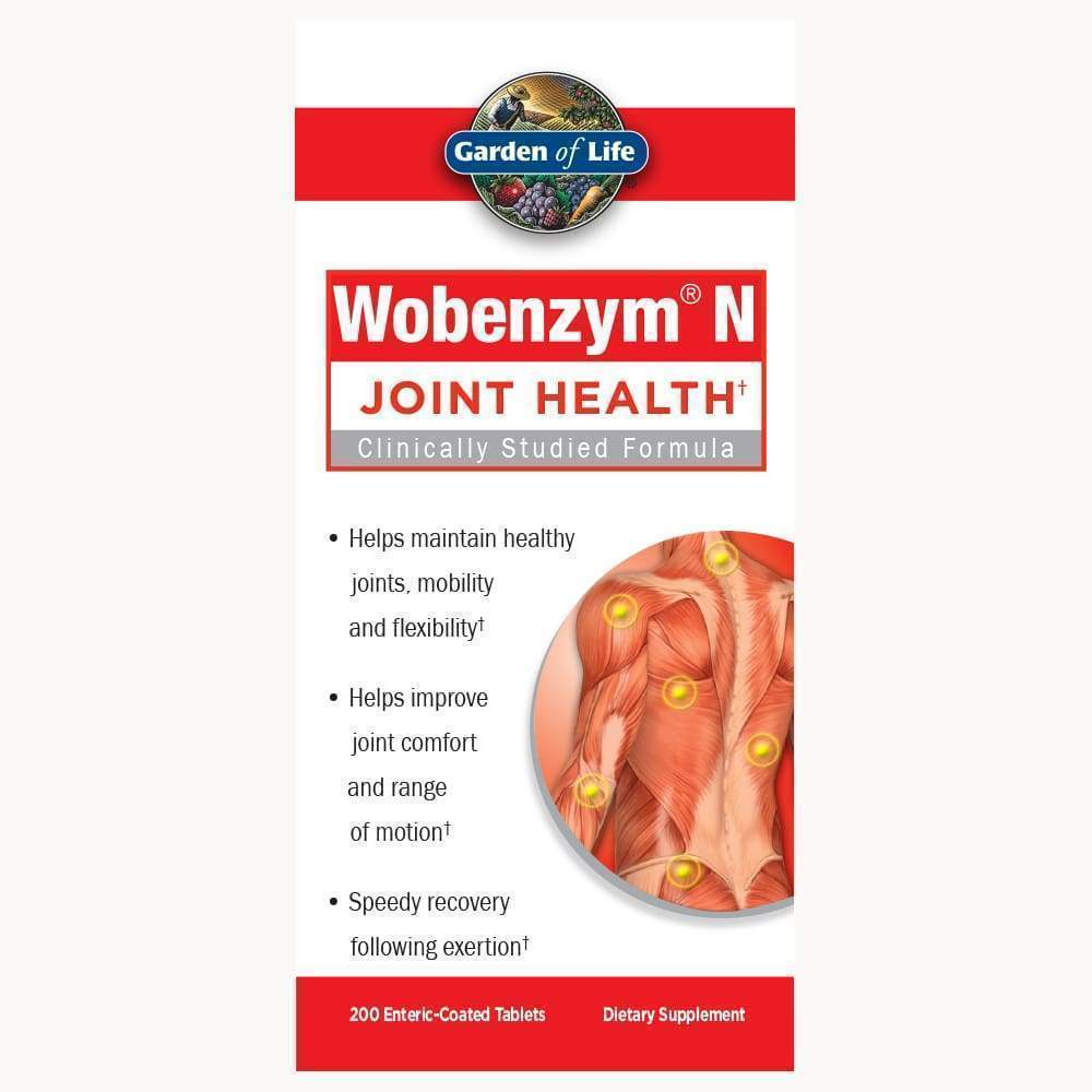 Wobenzym N Joint Health 200 enteric-coated tablets - Earthly Nutrition