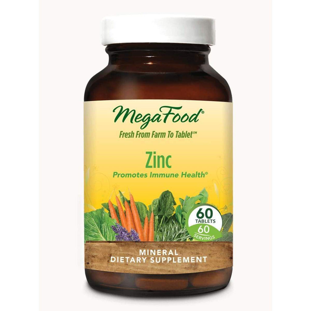 Zinc 22.5mg 60ct - MegaFood - Earthly Nutrition