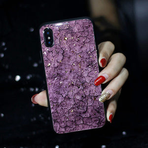Various Background with Bling Bling Gold Foil iPhone Case