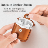 Apple AirPods Headphones Leather Case