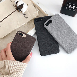 Autumn And Winter Felt Flannel Soft Shell iPhone Case