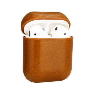 Small Hook AirPod Case Real Leather