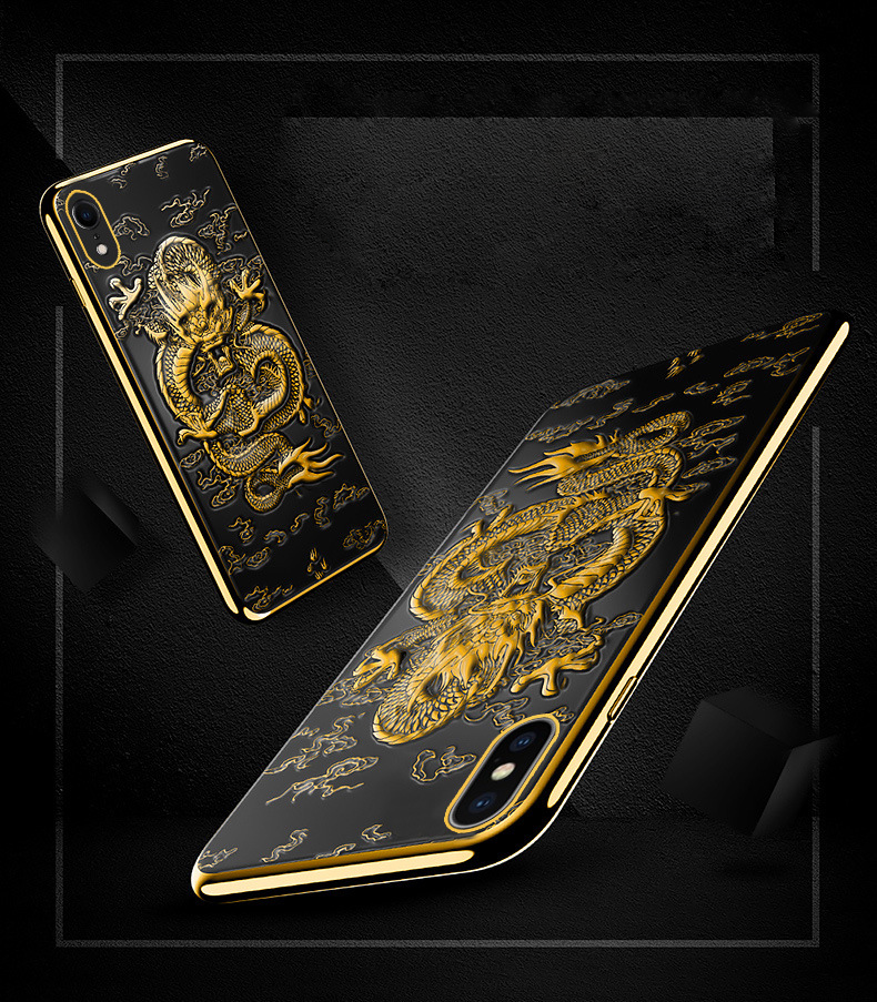 Embossed Chinese Dragon on iPhone Case