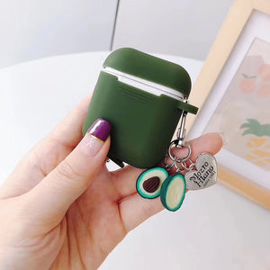 Dark Green Avocado Apple Airpod Box