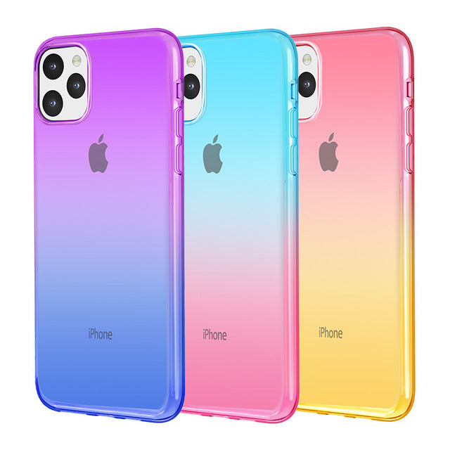 Gradient Color Super Thin Back Cover for iPhone Cases