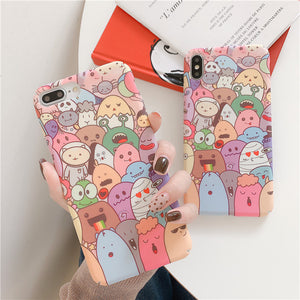 Cartoon Alien Family and Crayon Shinchan Family iPhone Case