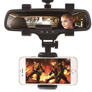Stylish Phone Holder Mount On Rear Mirror
