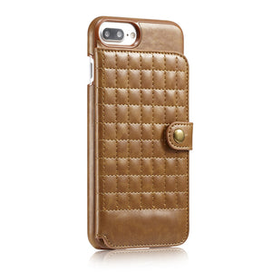 Multi Card Slots Leather Case For iPhone