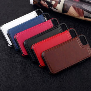 Horse Skin Alike iPhone Case with card holders