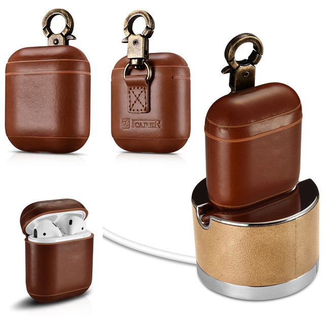 Ring Buckle AirPod Case With Premium Cowhide