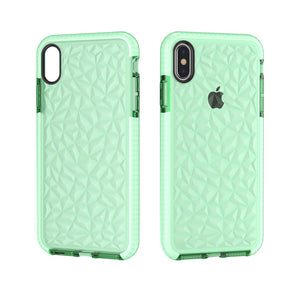 Two-color Diamond Pattern TPU Soft iPhone Cover