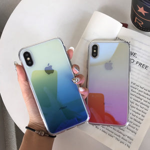 Gradient Color With Blu-ray Coating iPhone Case