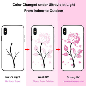 UV Sun Light Color Change With Luminous Case for iPhone