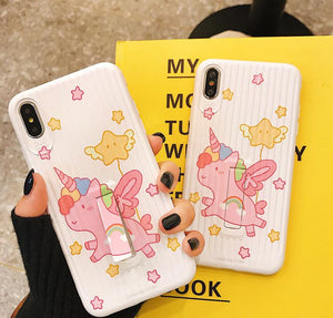 Cute Unicorn iPhone Case With Stand