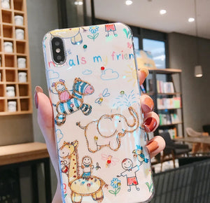 Cute Cartoon Animals on iPhone Case