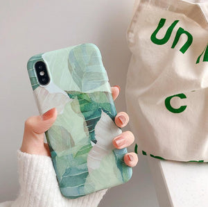 Illustration leaves on iPhone Case