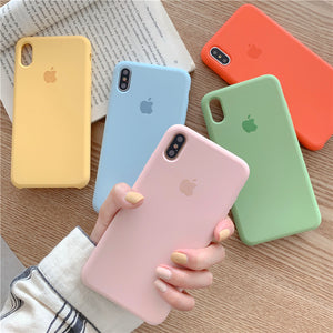 Simple Colors Liquid Silicone iPhone Cases