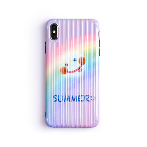 Rainbow with A Smilie Face iPhone Case