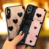 Leopard Spots or Black Hearts iPhone Case