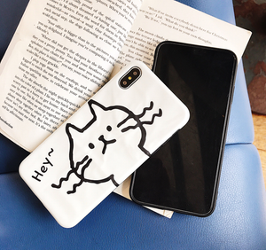 Hand Drawn Kitty For iPhone Cases