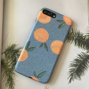 6 Floating Oranges on iPhone Cases
