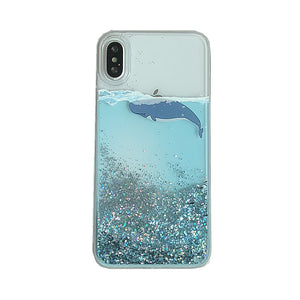 Whale Flipping And Whale Swimming iPhone Case