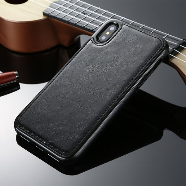 Vintage PU Leather Case for iPhone