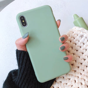 Solid Color Silicone iPhone Case