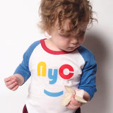 red/yellow NYC raglan