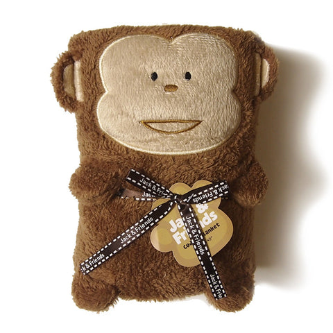 Jack and Friends cuddly blanket 30x45 monkey