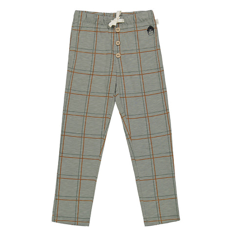 Mainio Check pants seagrass