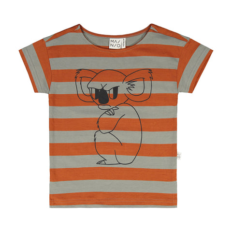 Mainio t-shirt with Grumpy Koala all-over pattern.