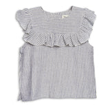 Ruffle Top Navy Stripes