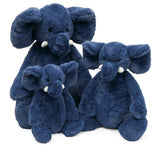 Jellycat bashful elephant blue group