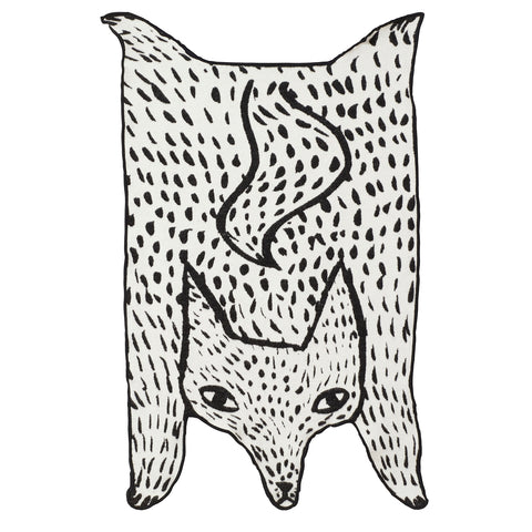 Wolf Shaped cotton mini blanket