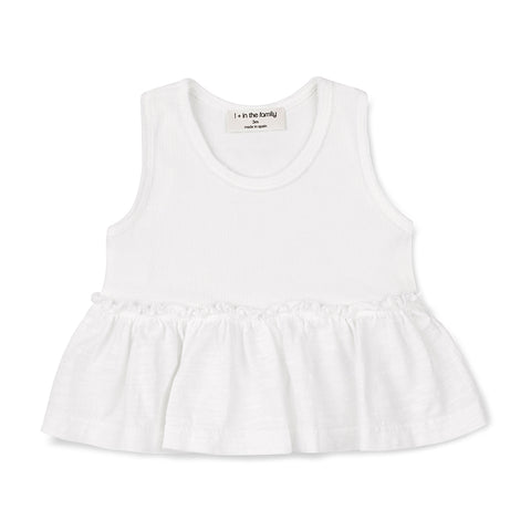 1+ Leuca infant tank white