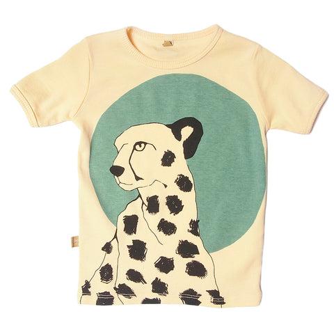 Lotiekids Cheeta Yellow s/s Tee.