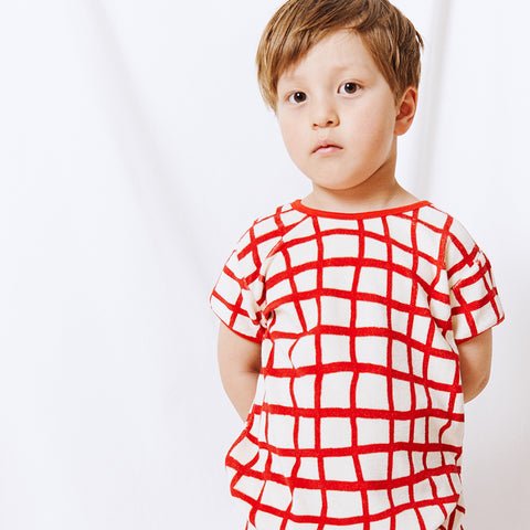 Noe terry tee toddler tennis red