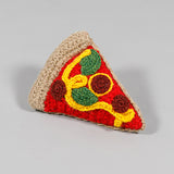 Dog toy- Pizza hand knit