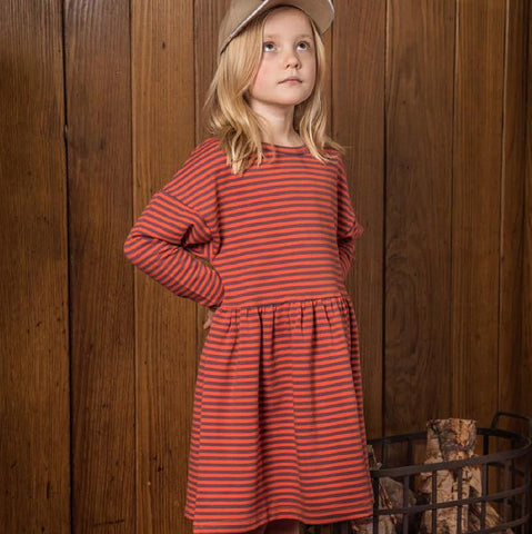 Wander Elda dress jam stripe