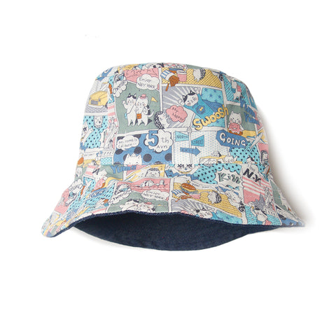 Bucket hat City pastel