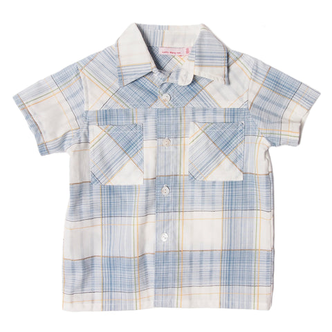 City Shirt Madras Blue