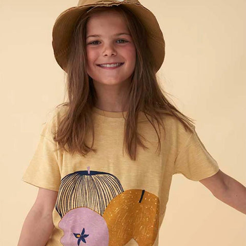Soft Gallery Dharma fruit tee is illustrated by Marisol Ortega, made with soft cotton slub.