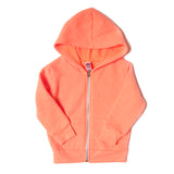 triblend infant hoodie neon orange