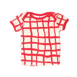 Noe & Zoe terry infant tee tennis red