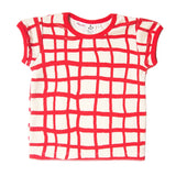 Noe & Zoe terry tee toddler tennis red